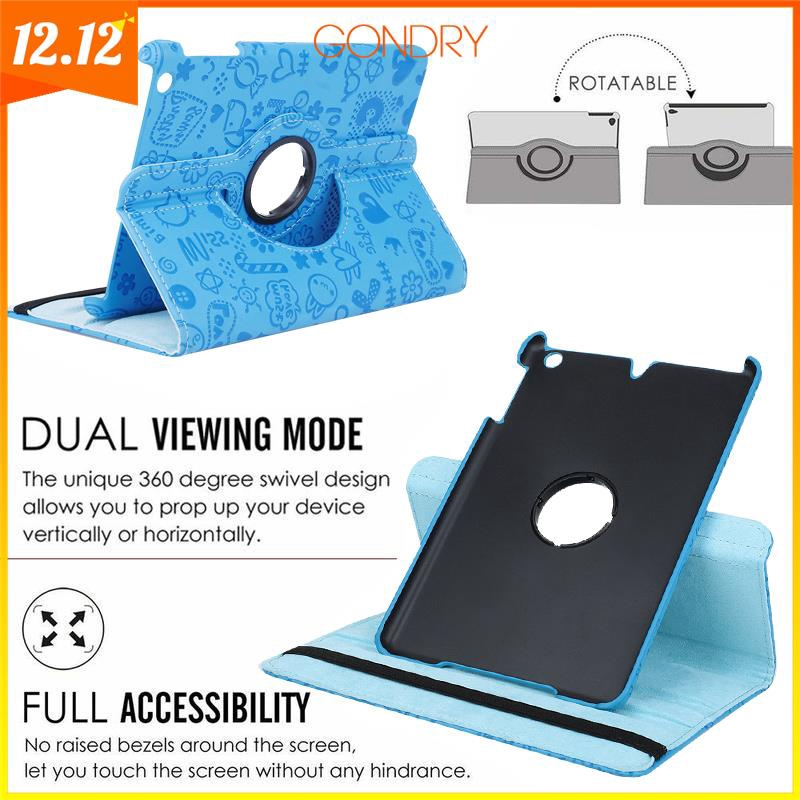 OH 360 Degree Rotation PU Leather Tablet Cover Case Suitable For Ipad mini 1/2