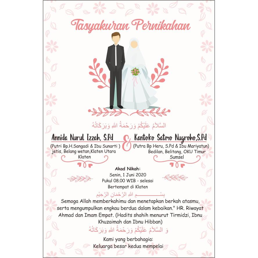 undangan tasyakuran pernikahan// tasayakuran aqiqah buat penutup ...