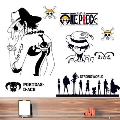 Portgas One Piece Ay7228 50x70 Stiker Dinding Shopee Indonesia