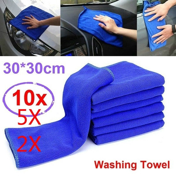 5//10Pcs Microfiber Wash Cleaning Towels Home Windows Car Clean Duster Cloths Hot
