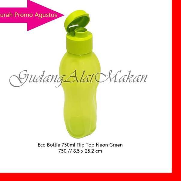 ✬✬ V9D Tupperware Eco Bottle 750ml Hijau Neon tempat minum botol air K ★