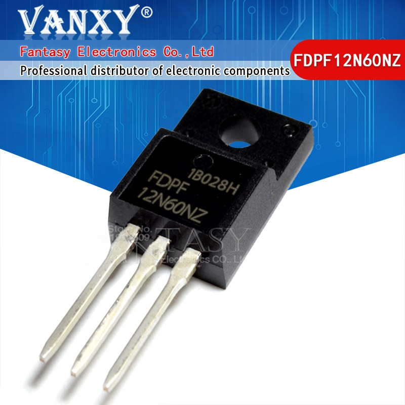 5pcs FDPF12N60NZ TO220F 12N60NZ TO-220F FDPF12N60N FDPF12N60 MOS tube