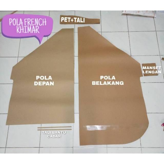 Pola Frenc Hijab French Khimar Berbagai Model Khimar Lancip Dan Pet Shopee Indonesia