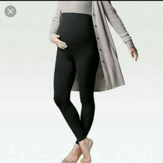 Uniqlo Maternity Legging Legging Hamil Uniqlo Black L Shopee Indonesia
