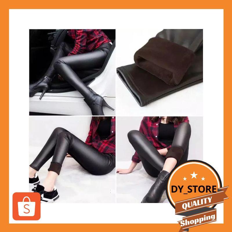Murah Celana Legging Kulit Mengkilap Musim Dingin Legging Winter Rf Elegan Shopee Indonesia