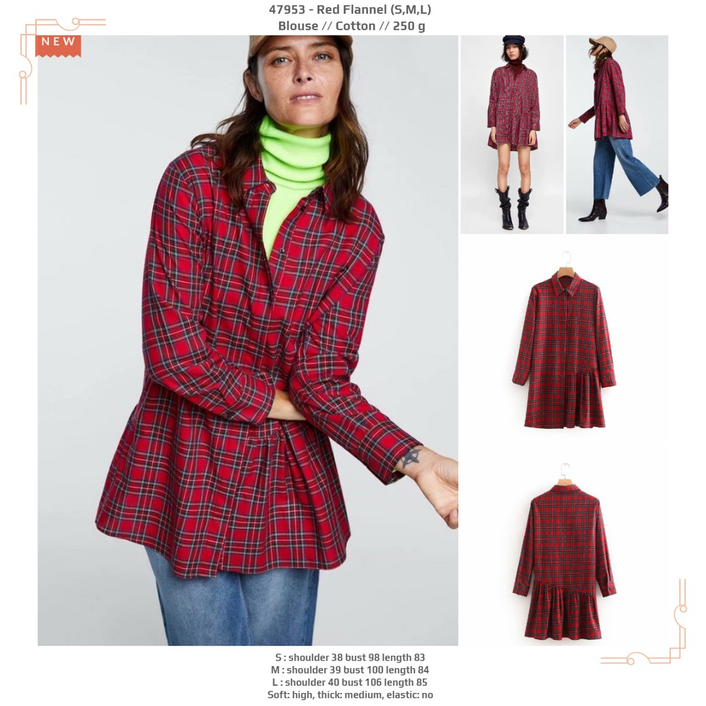 Red Dot Wrap Blouse Size L 21396 Shopee Indonesia Cottonink Alcide Merah