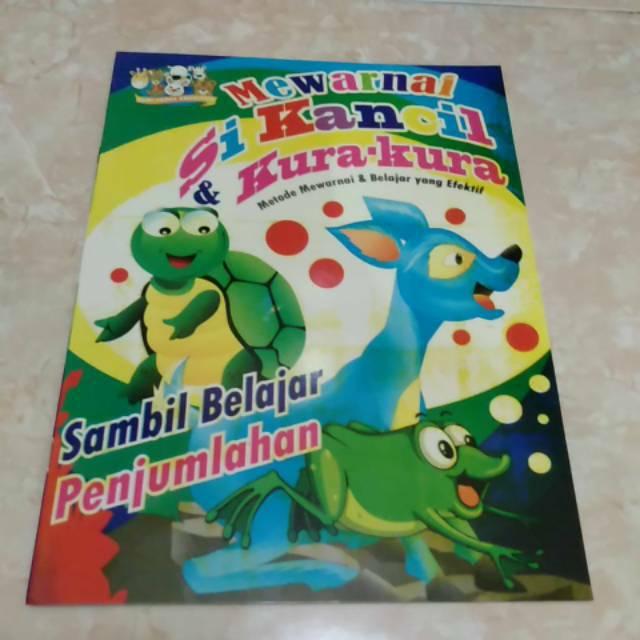 Buku Mewarnai Si Kancil Dan Kura Kura Sambil Belajar Penjumlahan Kertas Hvs Ukuran A4 Shopee Indonesia