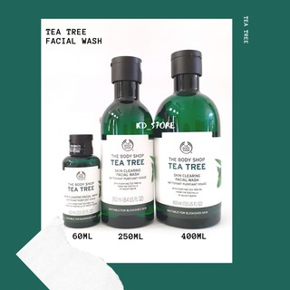 The Body Shop Tea Tree Facial Wash 250 Ml Tea Tree Facial Wash 400ml Shopee Indonesia