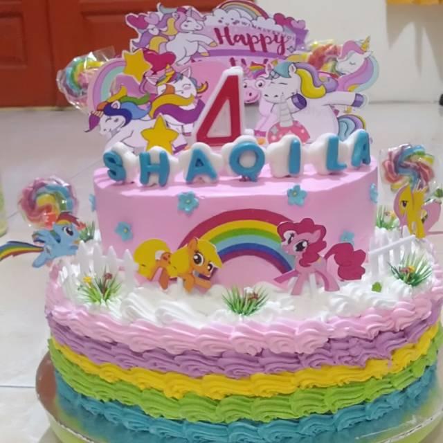 Kue Tart Kue Ulang Tahun Hello Kitty Tingkat Lol Shopee Indonesia