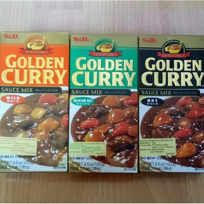 GOLDEN CURRY S&B   Shopee Indonesia -. Source · S&B Golden Curry Sauce Mix/ Saus Kari - 100g