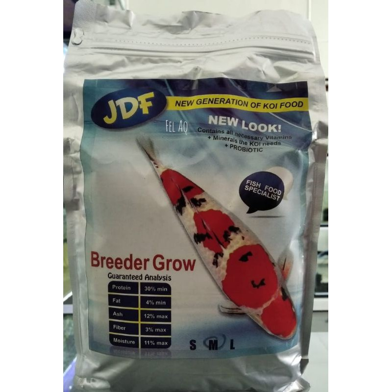 JDF Pelet Pakan Koi Breeder Grow New Look 1kg Size M