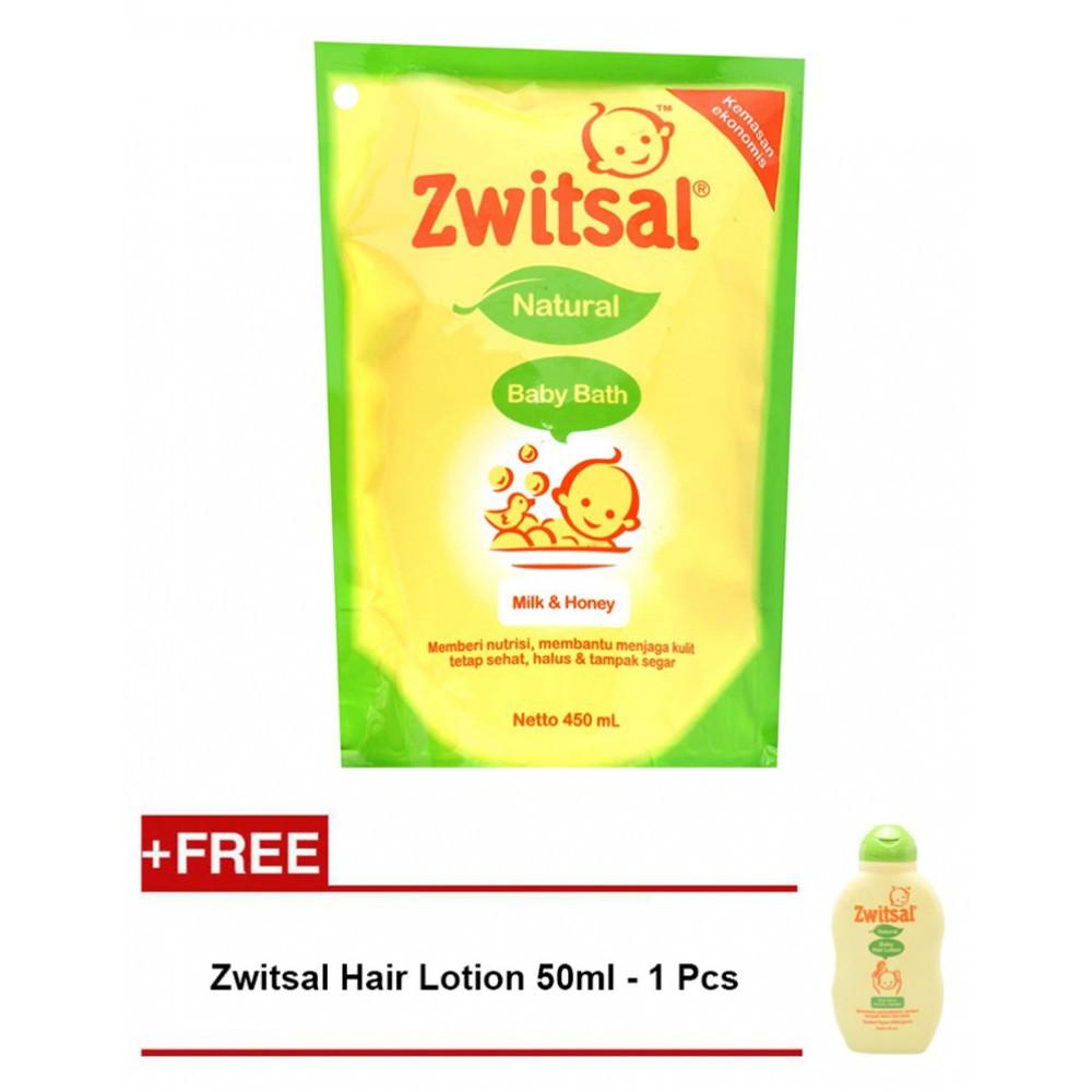 Termurah Zwitsal Natural Baby Bath Milk Honey Pouch 450ml Extra Care Cream With Zync 50ml Tub Switsal Refill Sabun Bayi Shopee Indonesia