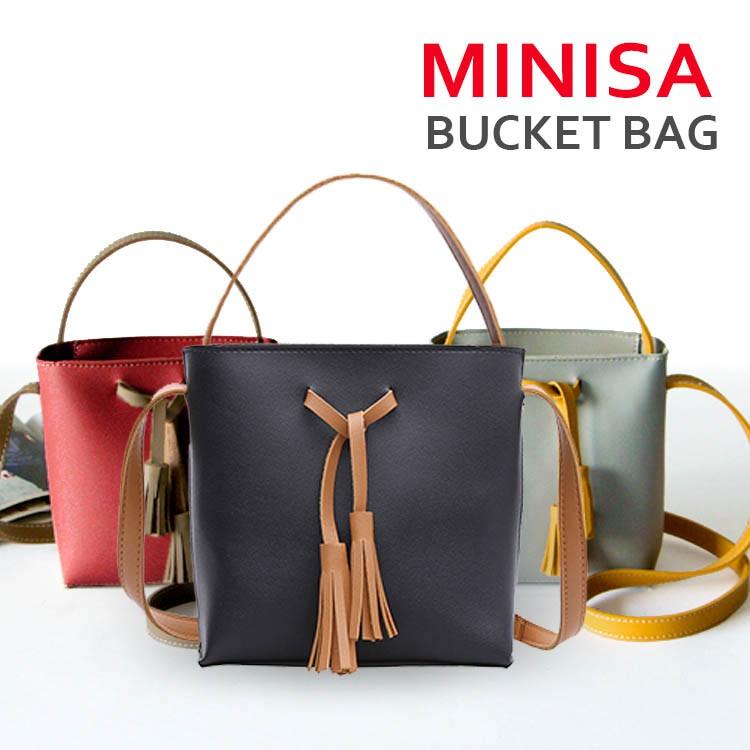 HANDBAGKU TAS MINISA MINI BUCKET BAG FASHION IMPORT WANITA ...