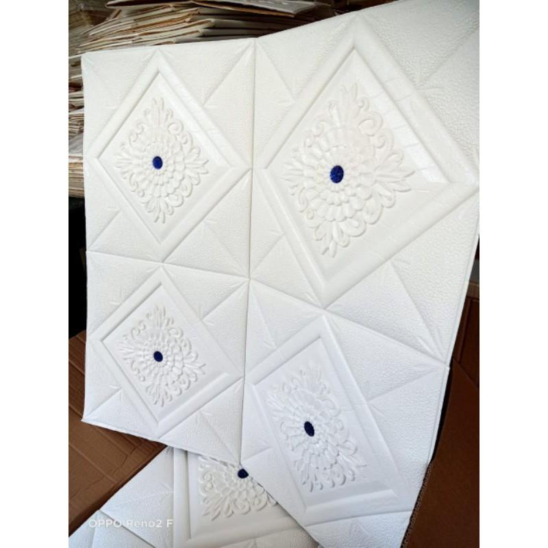 Wallpaper 3D foam permata biru
