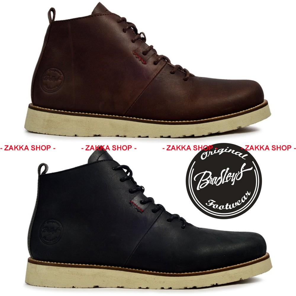 Sepatu Boot Kulit Pria BRADLEY Bradleys HOBBS Keren Sekelas Brodo   Shopee Indonesia