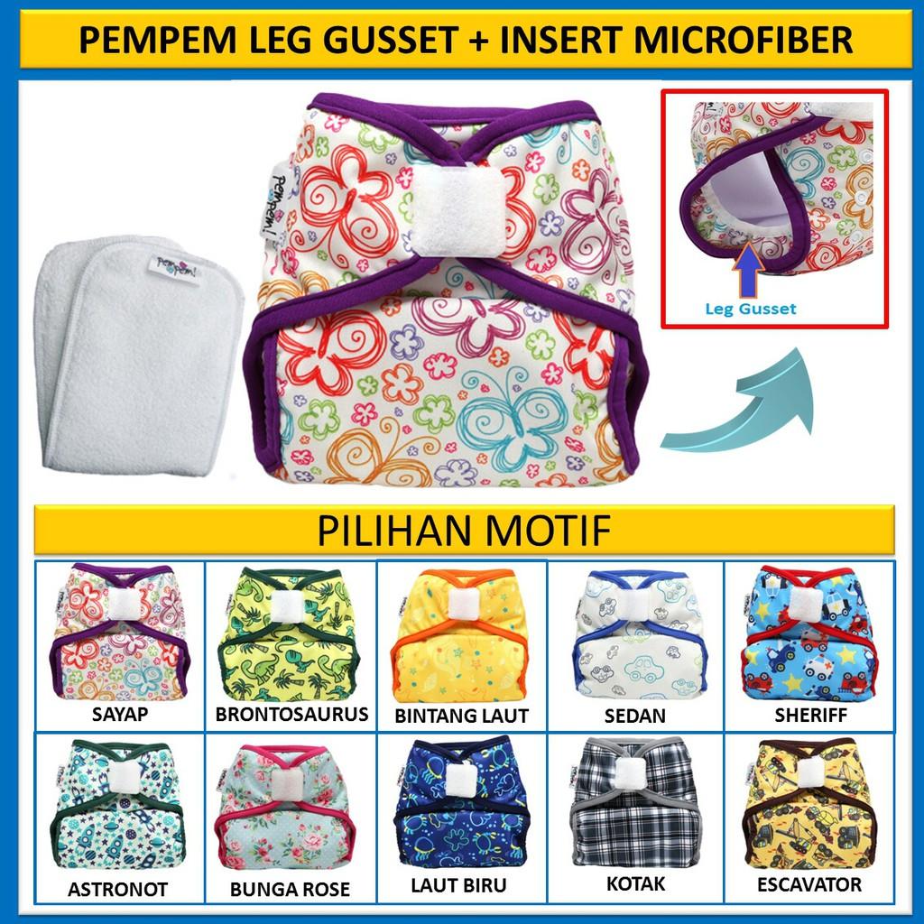 Clodi Popok Kain Bayi Little Hippo Easyfit Orange Tipe Perekat Cloth Easy Fit Motif Dino Diaper Shopee Indonesia