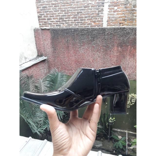Sepatu dinas Angkle boots Nano 5cm KODE 049 NANO