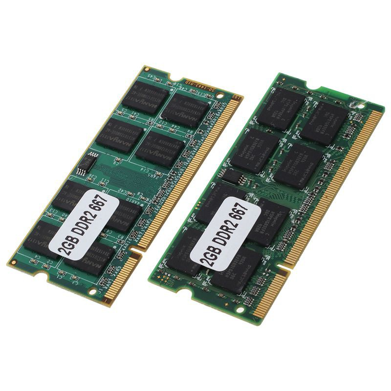 20pcs x 2GB PC2-5300 DDR2-667 200 pin SODIMM CL5 1.8V Laptop Notebook Memory RAM
