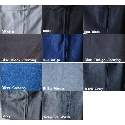 Bahan Kain Jeans Denim Cotton Katun Ring Wangler Polos Bio Wash Celana Pants   Shopee Indonesia