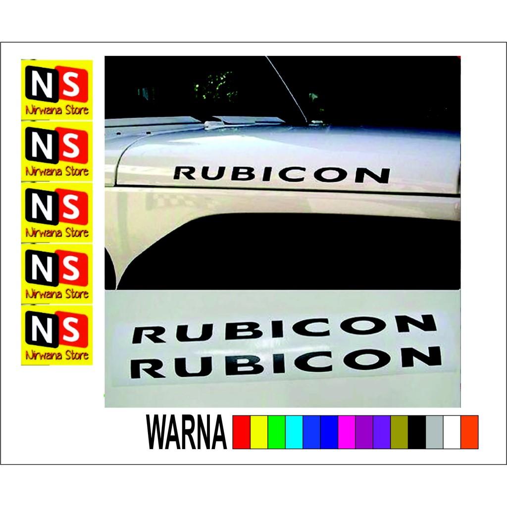 Cutting stiker rubicon jeep shopee indonesia