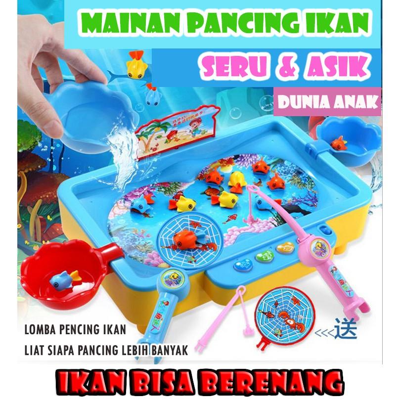 Gratis Hadiah Dunia Anak Mainan Pancing Ikan Mainan Anak Shopee Indonesia