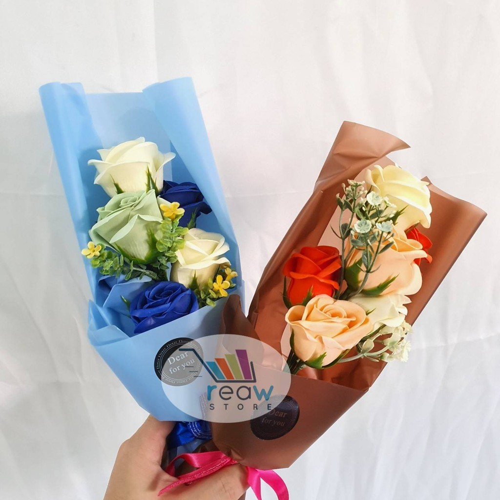 Souvenir Kado Gift Box Buket Bunga Sabun Kertas Premium Isi 6 Shopee Indonesia