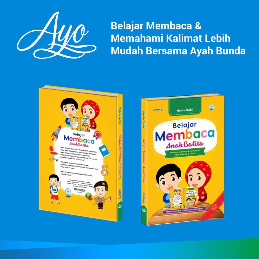 Buku Belajar Membaca Anak Balita Cara Mudah Mengajar Anak Membaca Kinsky Shopee Indonesia