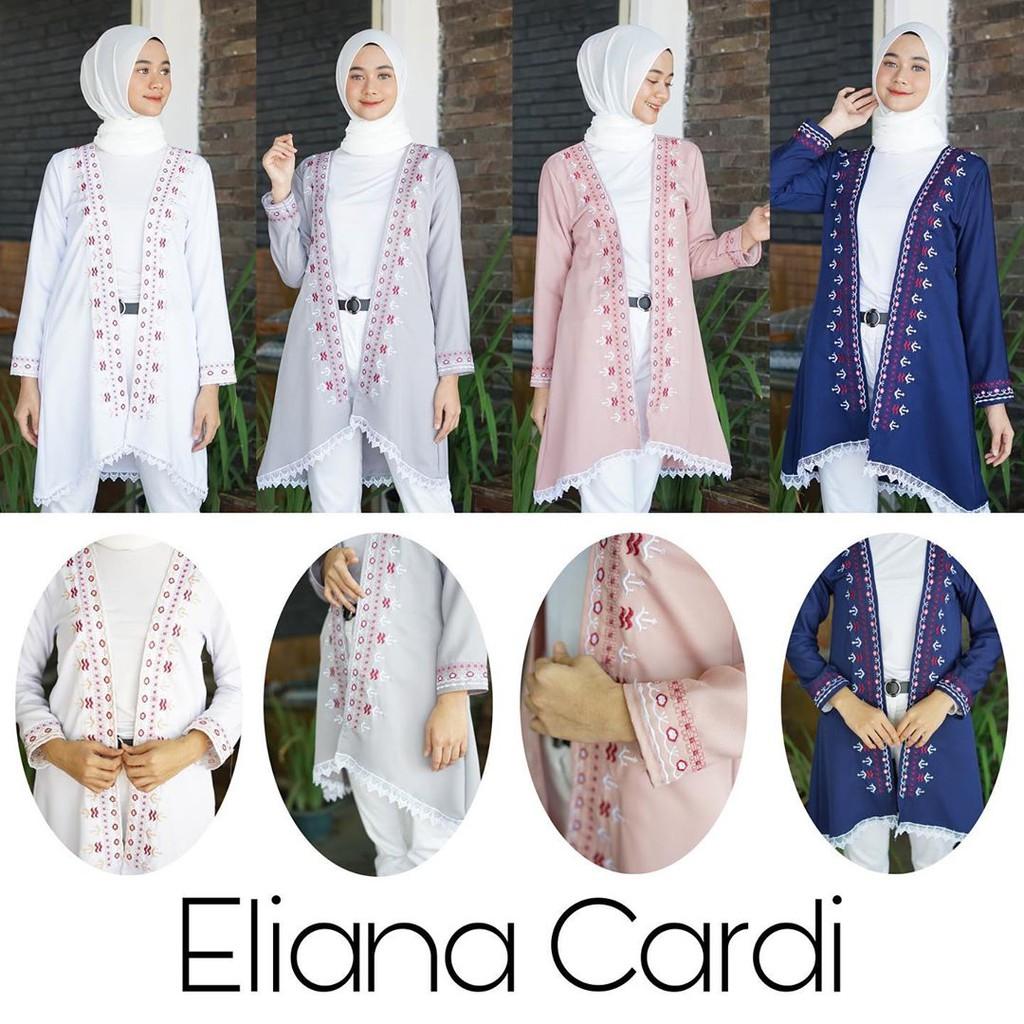 Bisa COD ELIANA CARDI – Cardigan wanita Outerwear Vest murah Cardigan terbaru