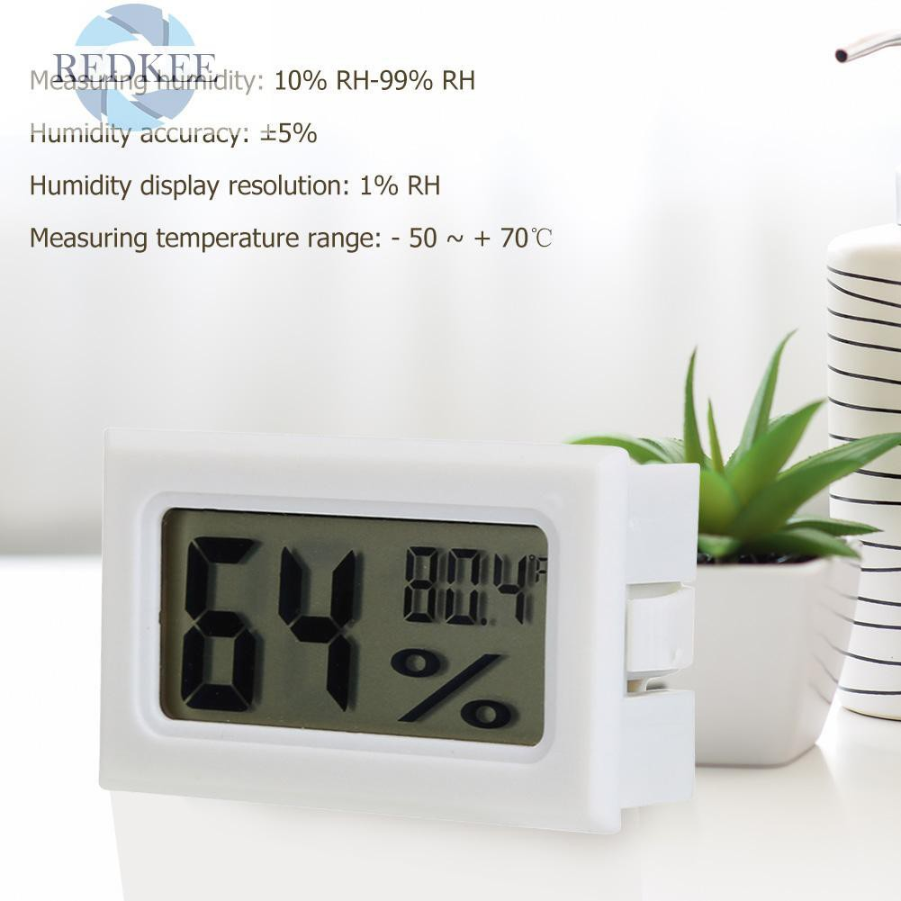 4PCS Thermometer LCD Digital Mini Meter Hygrometer Round Temperature Humidity UK