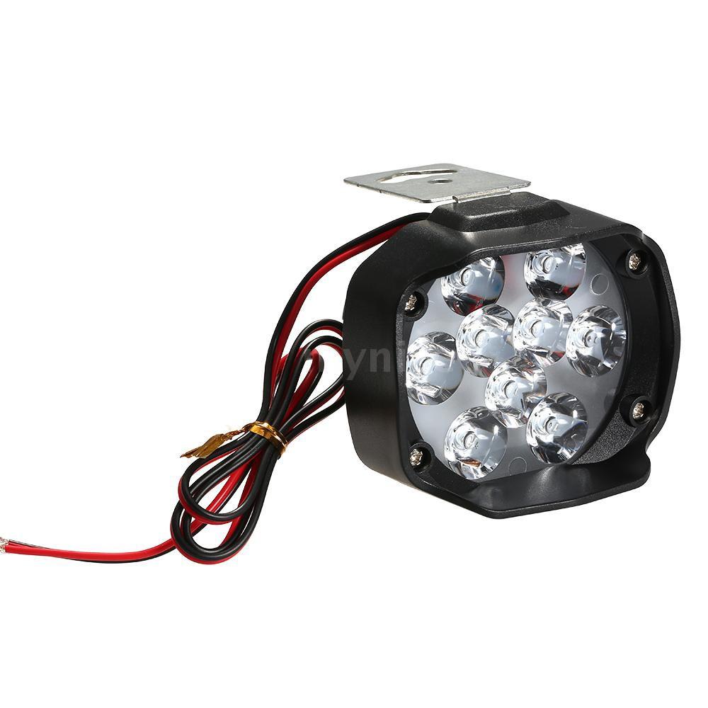 Mynice Lampu Sorot 9 LED 15W 1500LM Warna Putih untuk Motor / Skuter / mot  