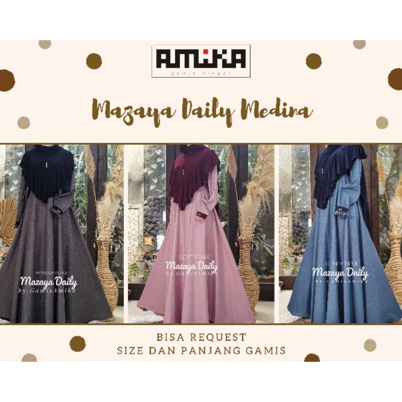 Gamis Amika Mazaya Daily Medina Gamis Only Shopee Indonesia