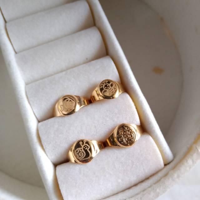 Cincin bayi emas asli 375 0.5gram-an
