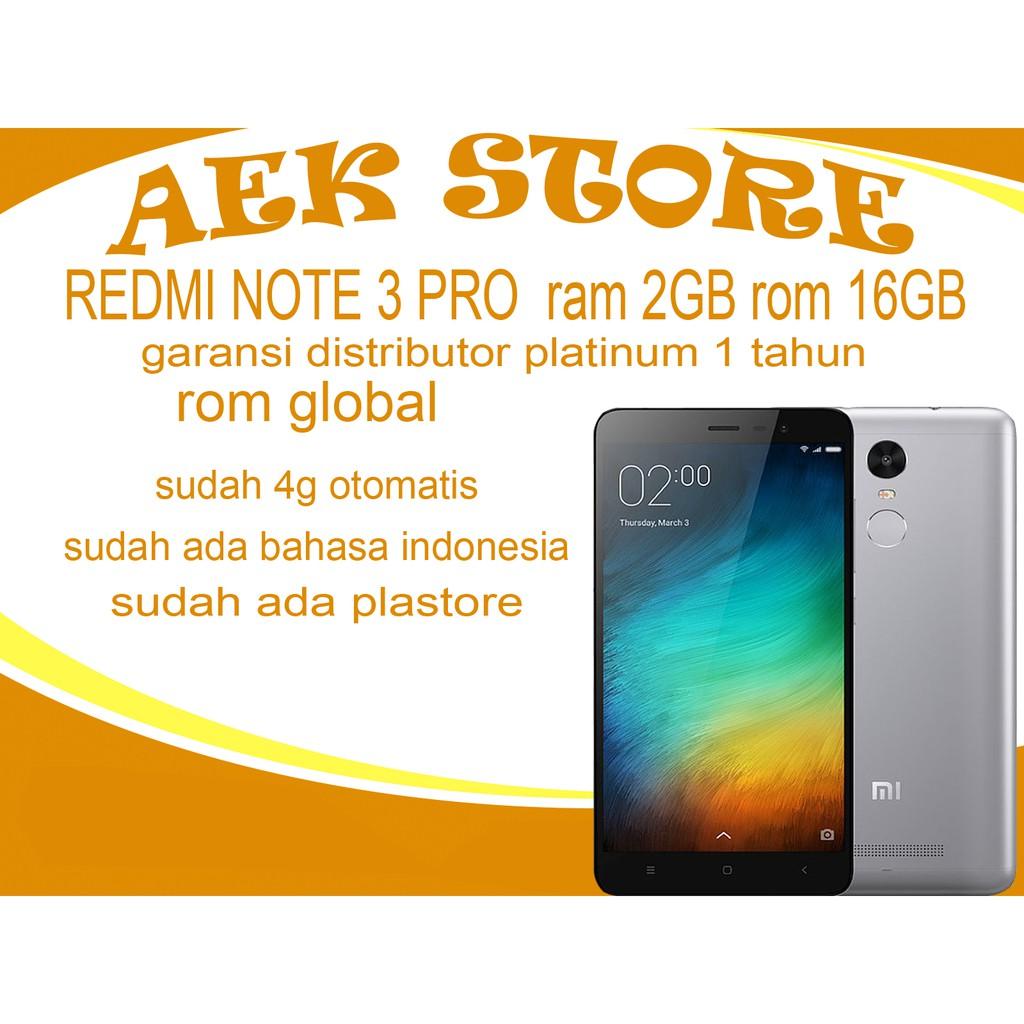 Xiaomi Redmi Note 2 16gb Garansi Distributor 1 Tahun Shopee Mi 3 Bamboo Edition Indonesia