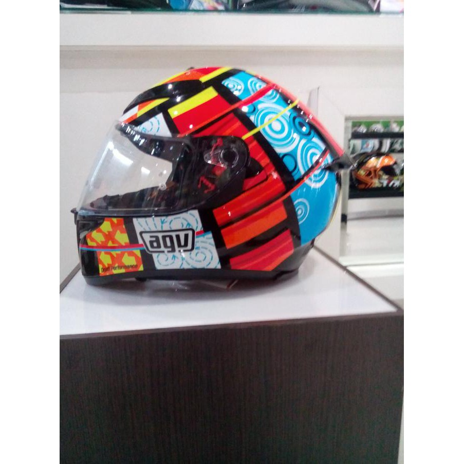 Up To 65 Discount From Desti18 Shop Visor Helm Agv K3 Sv Element Elements Full Red Yellow