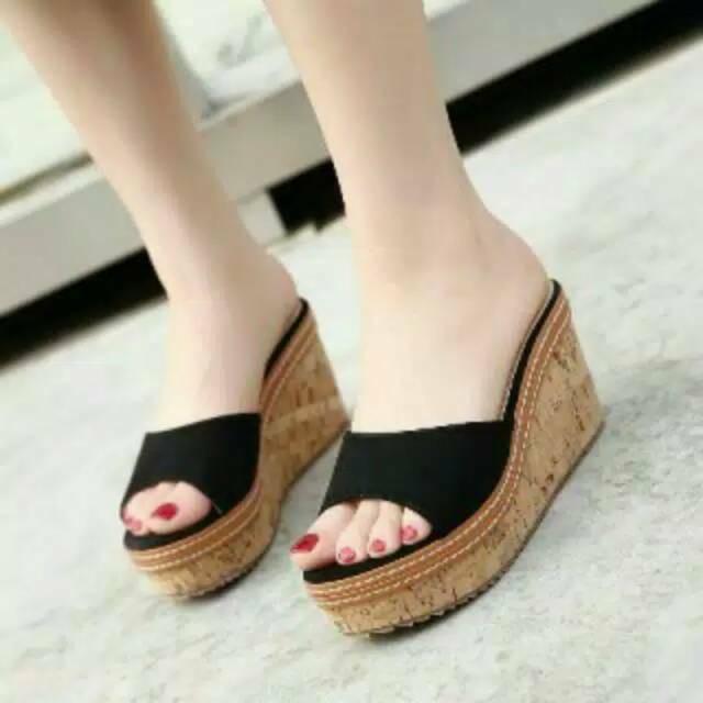 3c9dd31b1471 Lilyshoes MAHESA - real pict Dalleya SUPER MURAH sandal wedges wanita  casual santai simple cantik