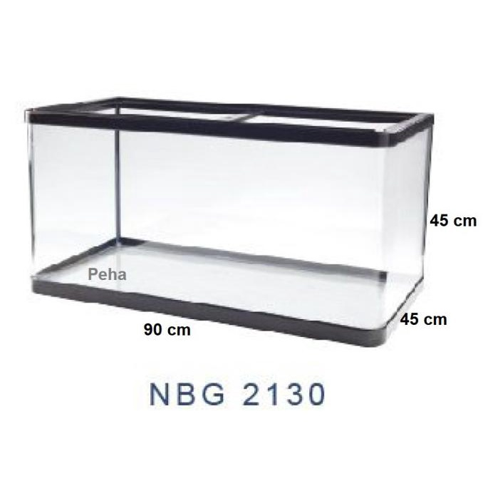Buruan Serbu] Aquarium Ikan - Akuarium Nisso Manta - Kaca Lengkung P 90 Cm Nbg 2130