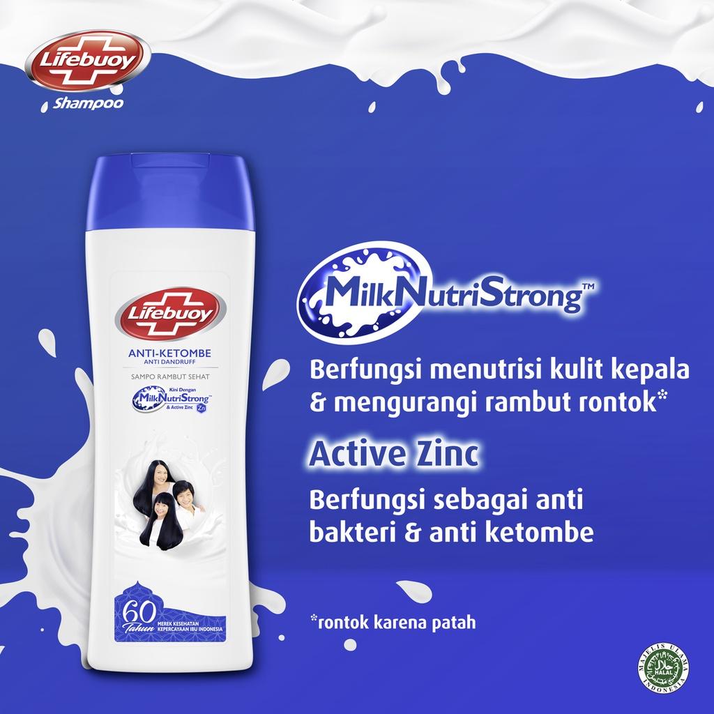 Lifebuoy Anti Dandruff Shampo Rambut Anti Ketombe Active Zinc 170ml Lawan Bakteri-6