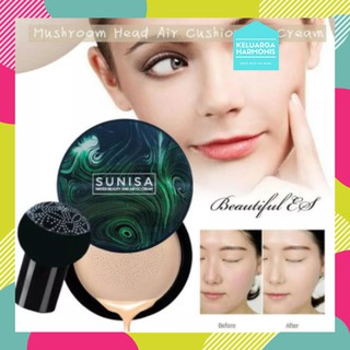 SUNISA MUSHROOM HEAD BB CUSHION AIR PAD CC CREAM BENTUK JAMUR thumbnail