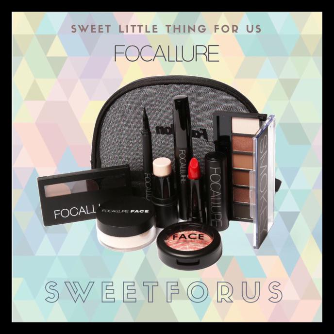 Stok Terbatas Focallure Makeup Complete Set 7 Pieces Paket Make Up Lengkap Seserahan Lamaran Powder