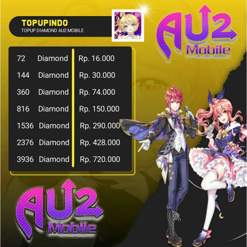 AU2 MOBILE DIAMOND/BERLIAN MURAH #1