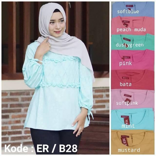 Orire Fashion Baju Atasan Wanita Lengan Panjang Baju Muslim Wanita Baju Ibu  Menyusui 3 Warna  772acca449