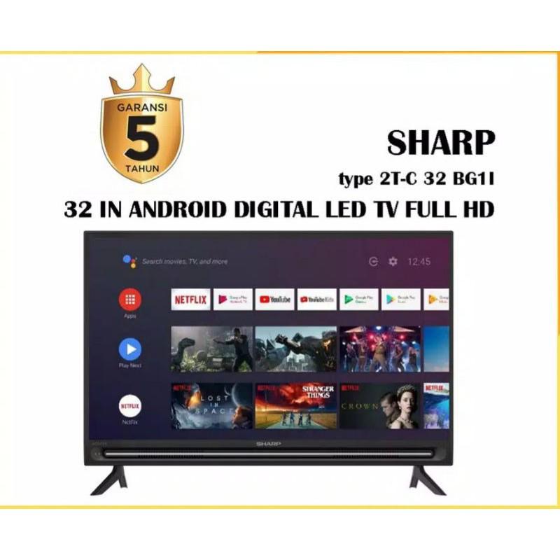 SHARP ANDROID TV 32 INCH 2T-C32BG1 FULL HD GARANSI RESMI SHARP