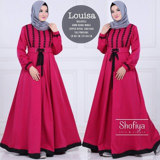 Gamis Syari Louisa Dress Couple Keluarga Dress Import