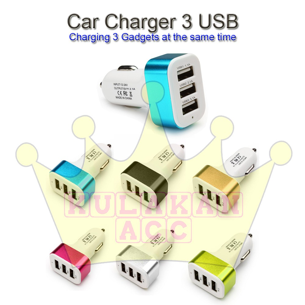 GRA Car Charger Power Adapter Durable Universal DC5V Dual USB Port Mobile Phone | Shopee Indonesia