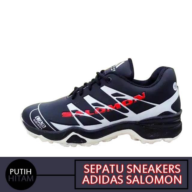 photos officielles b662e a511f Sepatu sneakers adidas salomon label vietnam hitam putih