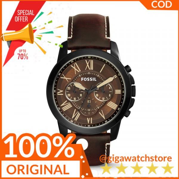 Fossil Jam Tangan Pria Merk Fossil FS5088 FS 5088 Original Black Brown Leather Garansi 1th