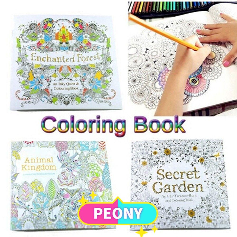Buku Mewarnai Seri Secret Garden Enchanted Forest 24 Halaman Untuk Mengatasi Stress