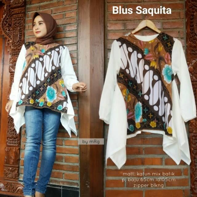 Blus Saquita Blus Batik Wanita Pesta Model Terbaru 2018