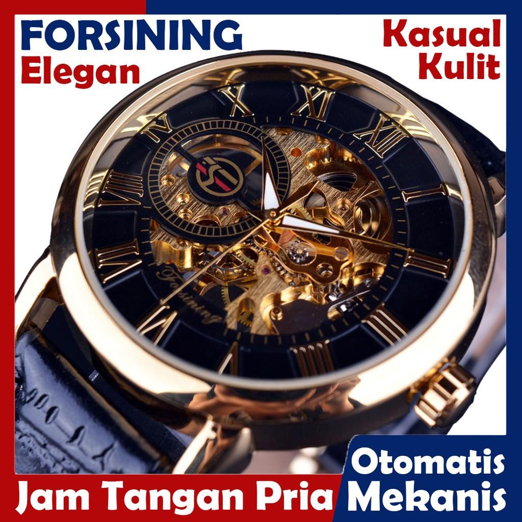Produk Baru Terlaris Jam Tangan Pria Simple Elegan Mewah Rolex Kulit Otomatis 17 Super Edisi Gratis | Shopee Indonesia