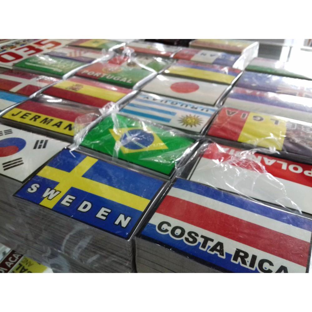 Jual Stiker Motor Bendera Negara Piala Dunia Isi 100 Pcs Murah